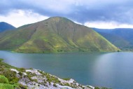 Pulau Samosir dari kejauhan