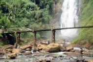 Jembatan Air Terjun Bedegung Muara Enim