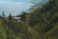 Pemandangan Danau Toba dari  Air Terjun Sipiso-piso