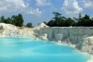 batuan danau kaolin bangka belitung