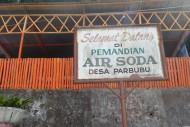 papan penunjuk permandian air soda tapanuli sumatera utara